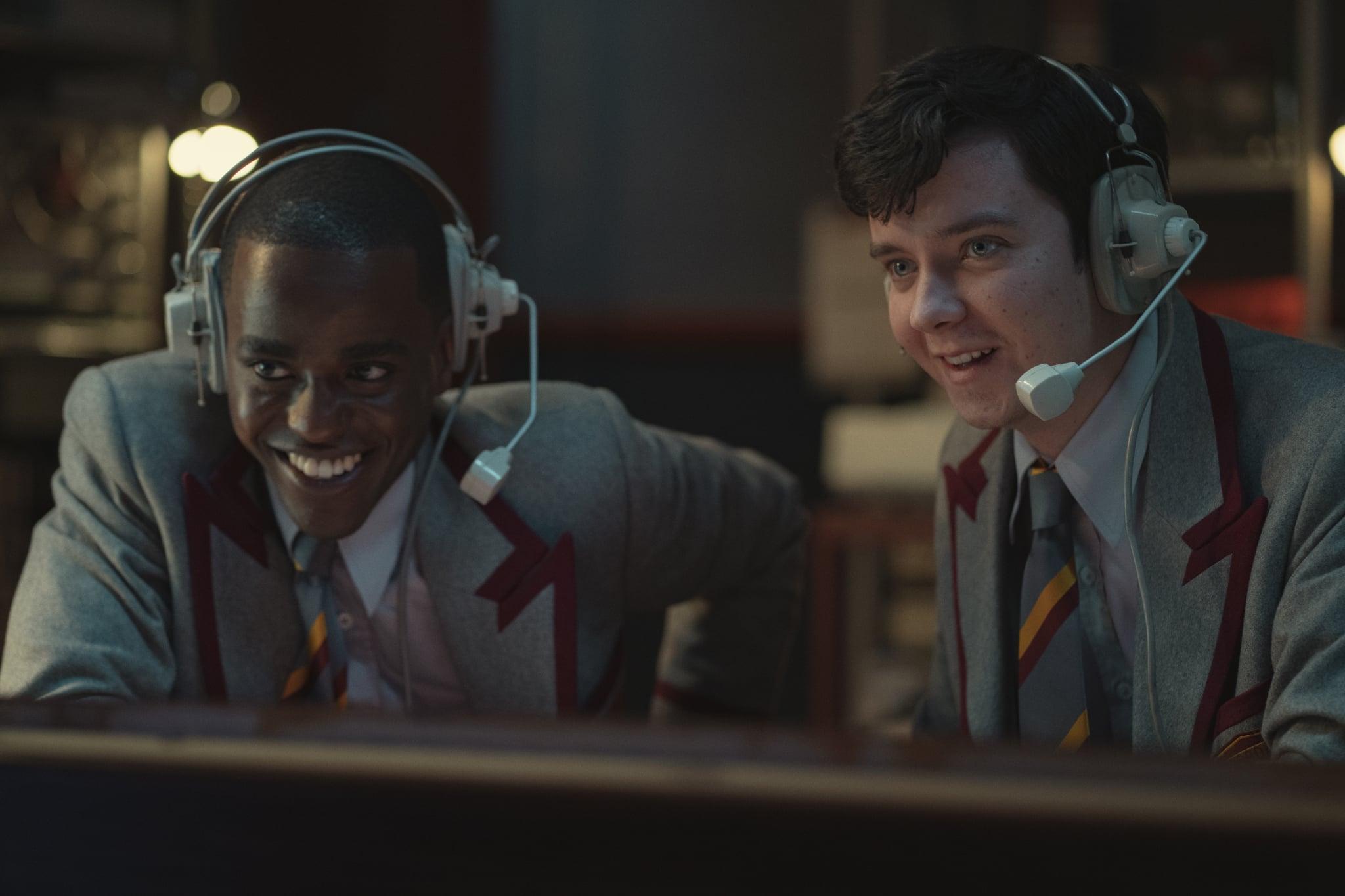 Sex Education Season 3.  Ncuti Gatwa as Eric Effiong, Asa Butterfield as Otis Milburn in Episode 7 of Sex Education Season 3. Cr. Sam Taylor/NETFLIX © 2020