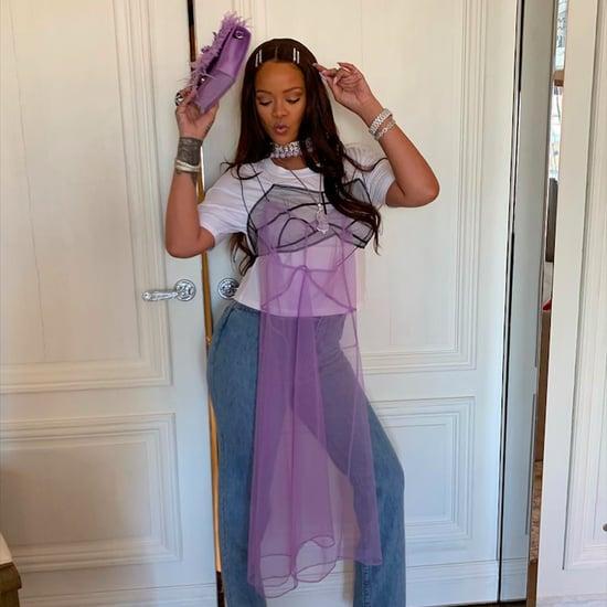 Rihanna Lavender Jade Nails