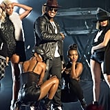 Ne-Yo sported a sexy leather jacket for his performance on Jimmy Kimmel Live! on Thursday.