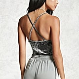 Forever 21 Crushed Velvet Cami Bodysuit ($13)