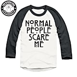 Normal People Scare Me Raglan T-Shirt ($17)