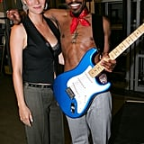 Gwyneth posed with Andre 3000 backstage at the MTV VMAs in August 2004.