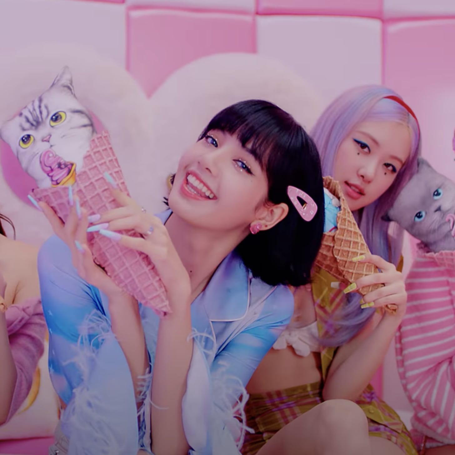 Blackpink And Selena Gomez S Ice Cream Video Beauty Looks Popsugar Beauty