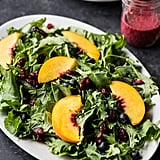 Blueberry and Peach Kale Breakfast Salad