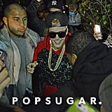 Source: Splash News Online  Later that night, Justin greeted awaiting fans and media outside the Miami Beach compound where he had been staying since his release from jail. The singer's security detail escorted him to a nearby vehicle. Justin reportedly traveled to a local airport, where a private jet was waiting for him.