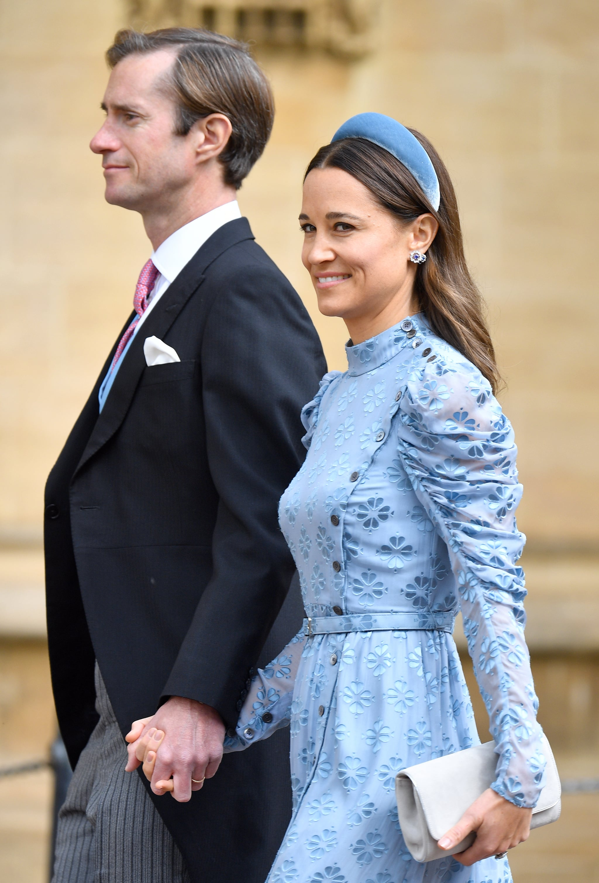 WINDSOR, UNITED KINGDOM - MAY 18: (EMBARGOED FOR PUBLICATION IN UK NEWSPAPERS UNTIL 24 HOURS AFTER CREATE DATE AND TIME) James Matthews and Pippa Middleton attend the wedding of Lady Gabriella Windsor and Thomas Kingston at St George's Chapel on May 18, 2019 in Windsor, England. (Photo by Pool/Max Mumby/Getty Images)