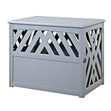 Unipaws Wooden Pet Crate End Table