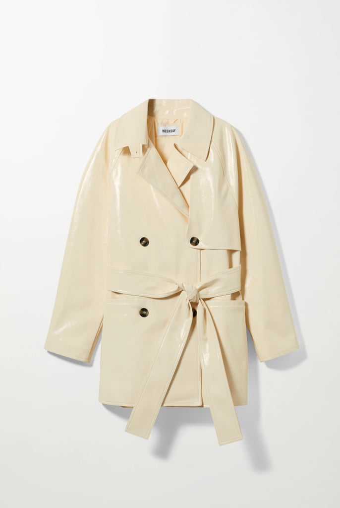 Weekday Janis Coated Short Trench