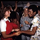 Michael danced with Tatum O'Neal at a party in July 1979.