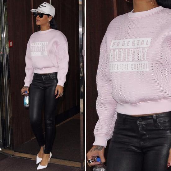 Rihanna Alexander Wang Parental Advisory Sweatshirt