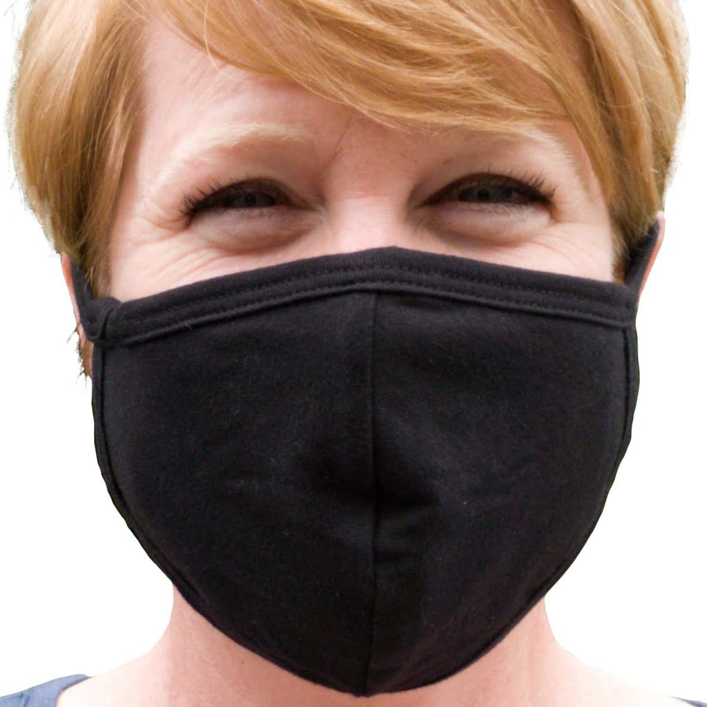 Buttonsmith Black Adult Cotton Face Mask with Filter Pocket
