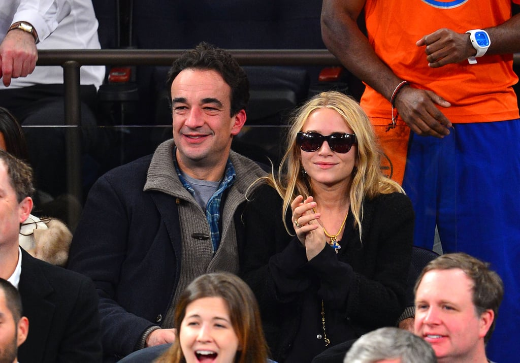 Mary-Kate Olsen and boyfriend Olivier Sarkozy enjoyed the game.