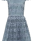 Alice + Olivia Maureen High Neck Lace Dress