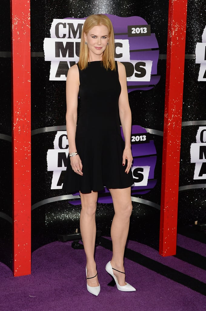 Nicole Kidman embraced the classic LBD in this Christian Dior dress at the CMT Awards — and we love even more how she offset it with a pair of sleek white pumps.