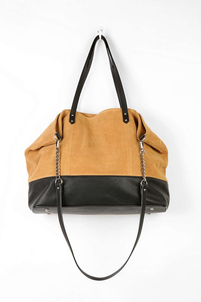 BDG Myles Suede Colorblock Tote Bag