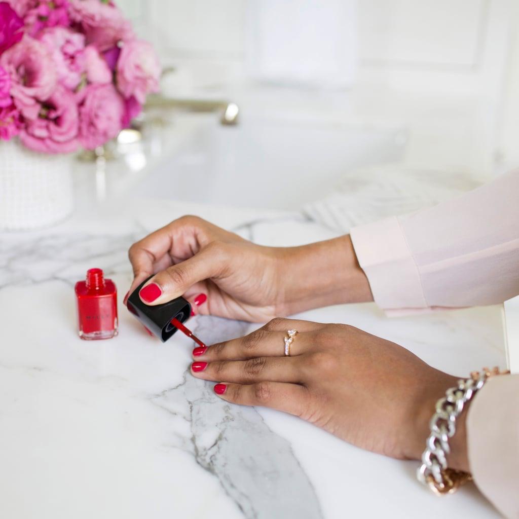 how to clean white nail polish
