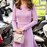 Kate Matched Her Lavender Bag to Her Emilia Wickstead Dress
