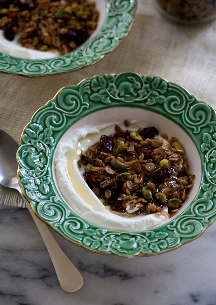 Rye Granola With Dried Sour Cherries and Pistachios