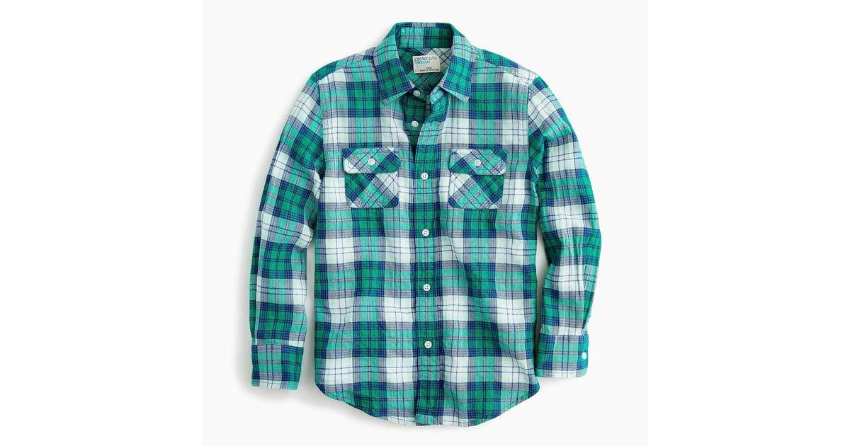 25e5488321967b J.Crew Lightweight Flannel Shirt   Cute Plaid Clothes For Kids 2018    POPSUGAR Family Photo 16