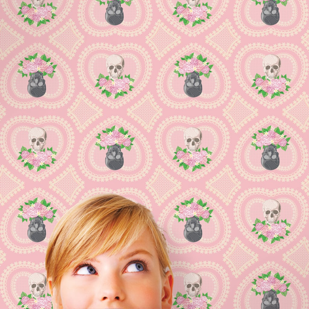 Hearts and Skulls Temporary Wallpaper ($148)