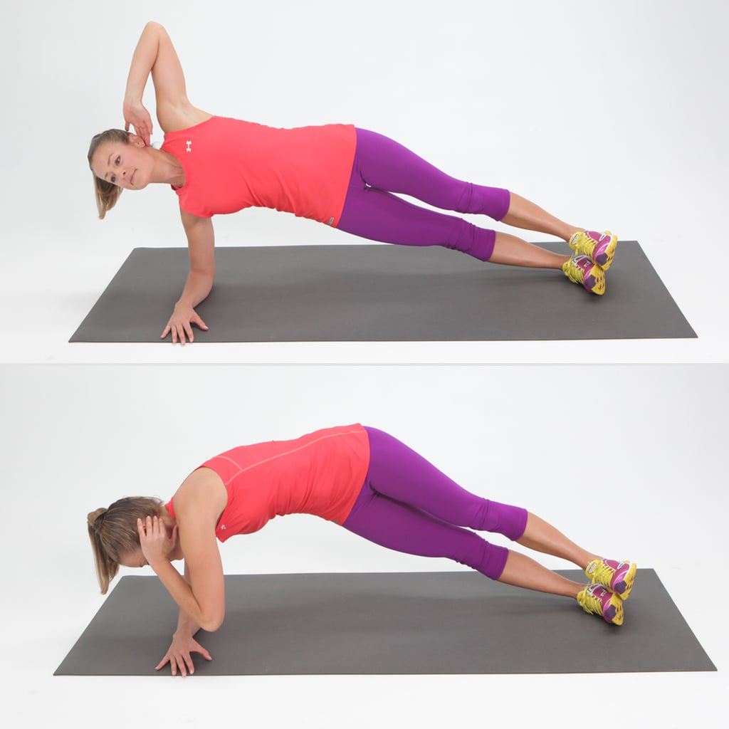 Twisting Side Plank Exercises For Side Abs Popsugar