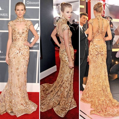Taylor Swift All Grown Up in Zuhair Murad Lace at the 2012 Grammy Awards: We Love, Do You?
