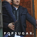 Orlando Bloom bundled up baby Flynn for his Saturday in NYC.