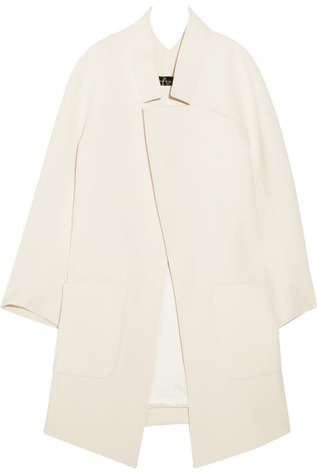 Jenny's cream-colored coat was the epitome of chic. Theyskens' Theory Monaz Crepe Coat ($269, originally $895)