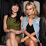 Daisy Lowe and Lottie Moss at Versus