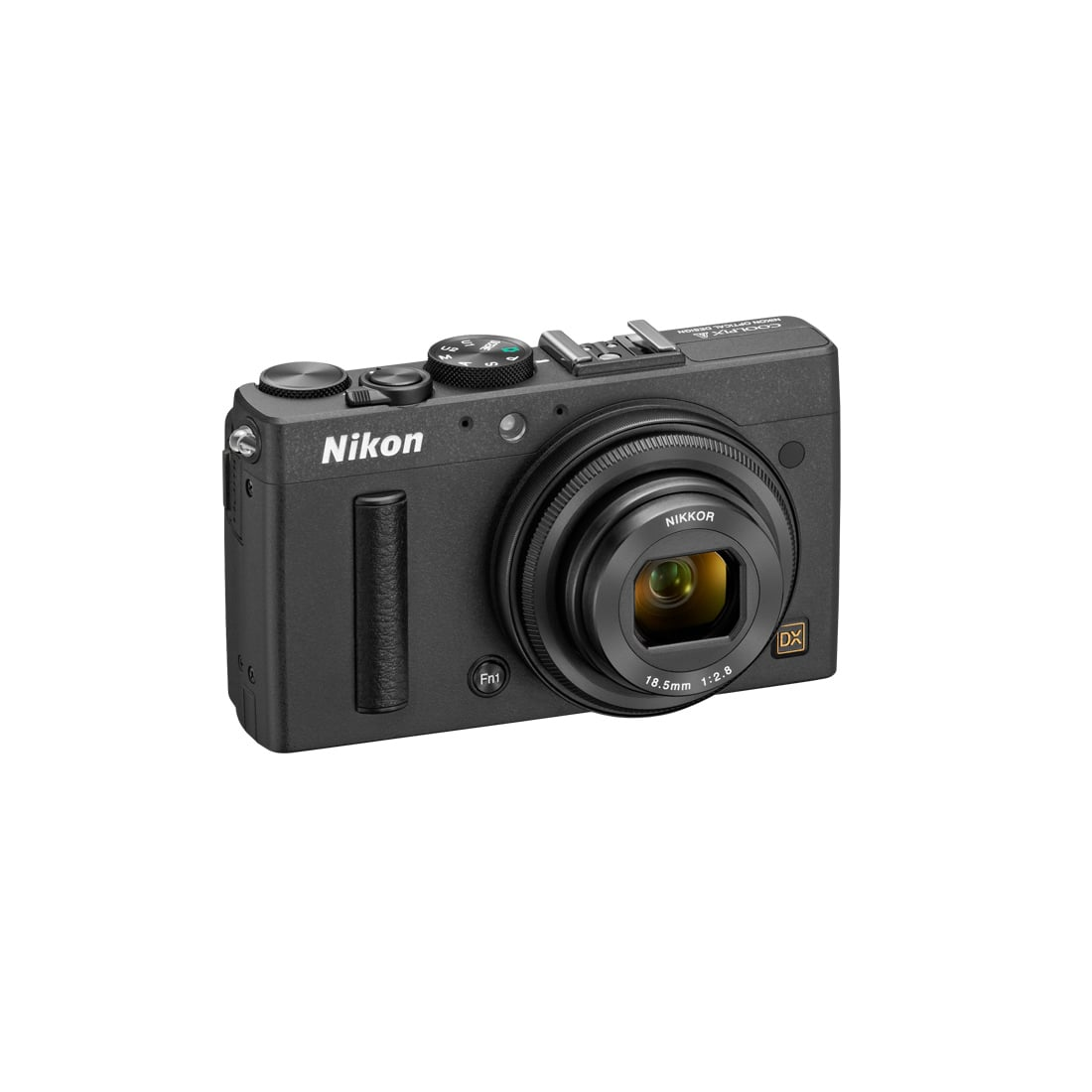 But before you buy, check out the technical nitty-gritty:  2.6 x 4.4 x 1.6 inches 0.67 pounds 16.2 MP DX-format sensor 18.5mm f/2.8 lens 1080p video recording 3-inch LCD display 4 frames per second continuous shooting at full resolution