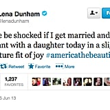 @lenadunham was excited about this week's gay marriage wins.