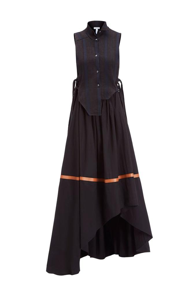 Loewe Sleeveless Shirtdress Gray/Black