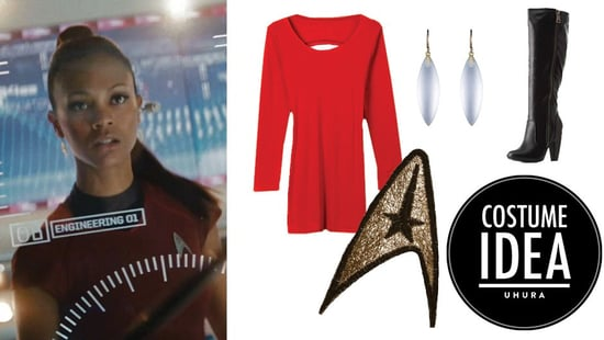 How To Make A Uhura From Star Trek Halloween Costume With Just A Red Dress And Boots