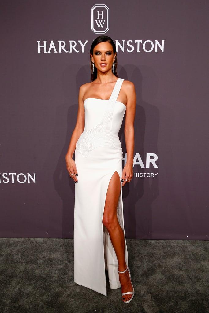 Alessandra Ambrosio S Versace Dress At Amfar New York Gala