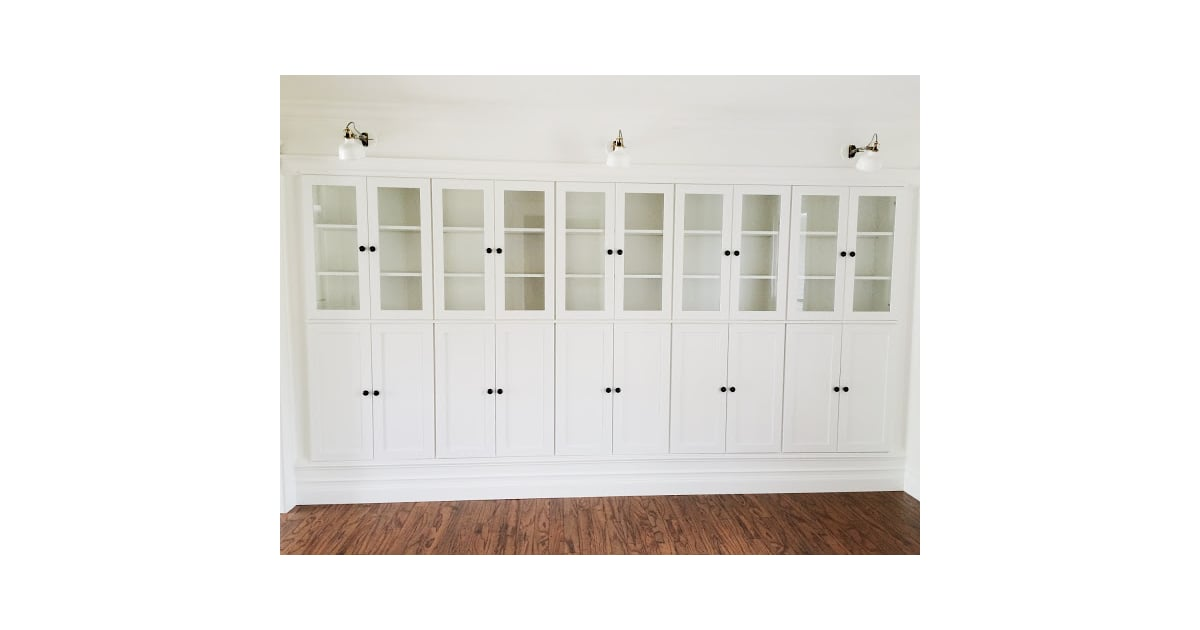 step 15 put on doors and knobs diy ikea built in bookcases popsugar home photo 22. Black Bedroom Furniture Sets. Home Design Ideas
