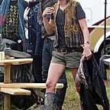 Kate Moss at Glastonbury 2008