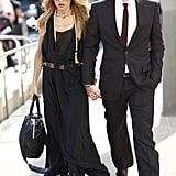 Rachel Zoe and Rodger Berman made an impeccably chic arrival in his and hers black ensembles. Source: Greg Kessler
