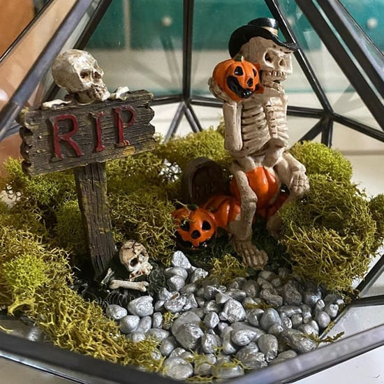 DIY Halloween Decorations: Spooky Plant Cemeterrarium Photos