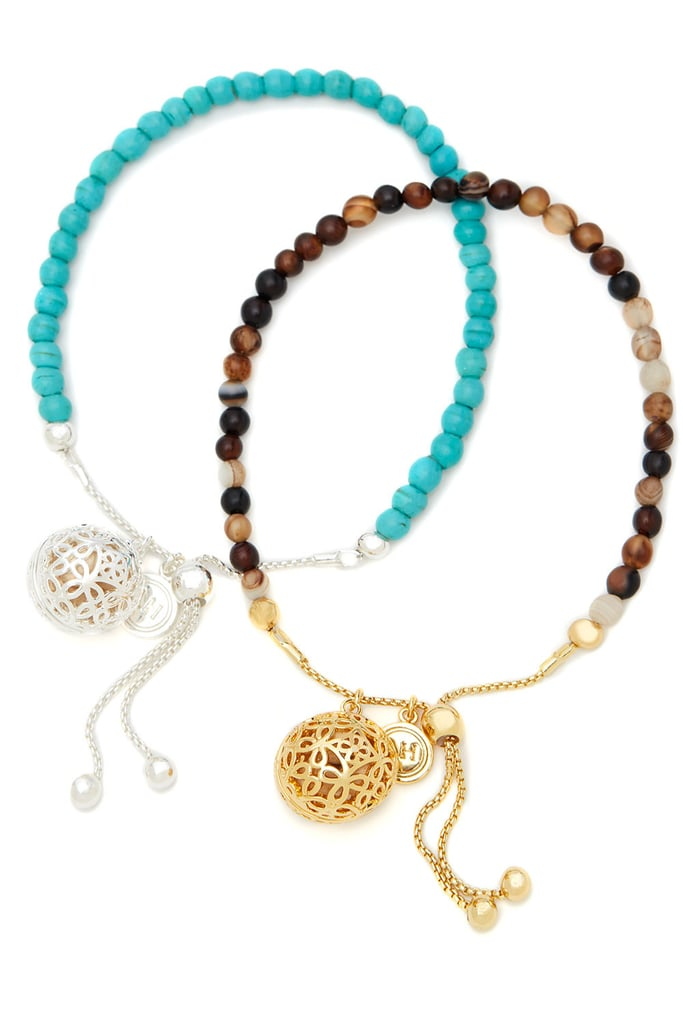 Lisa Hoffman's Turquoise and Sand Friendship Bracelet Duo