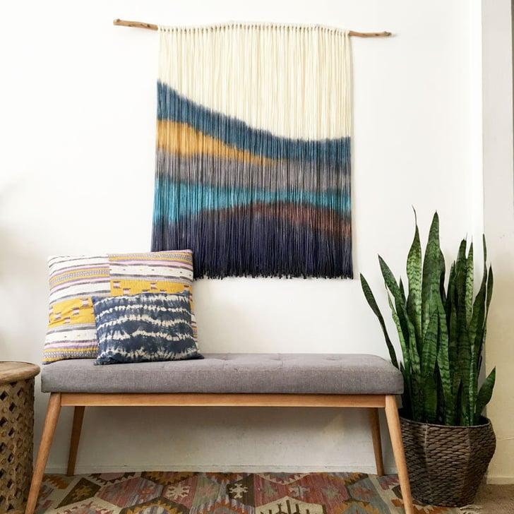 Dip-Dyed Wall Hanging | Textile Art Wall Decor | POPSUGAR ...