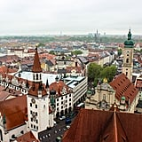With stunning, panoramic views of Munich's Old Town, chances are your eyes won't even know where to look first. While it was a bit rainy the day my husband and I made the climb, I've read the view even reaches to the Alps when the weather is clear. Now, there is a small entrance fee to climb to the top of the observation deck, but as you can guess, it's totally worth it!