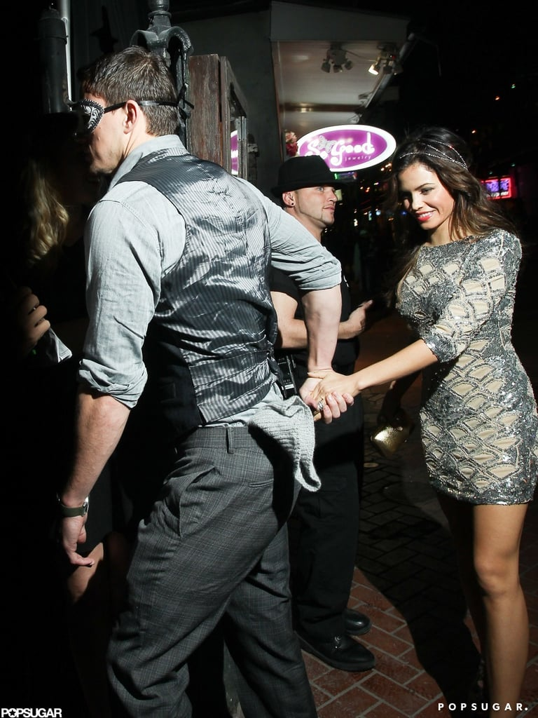 Channing Tatum and Jenna Dewan went into Saints and Sinners.