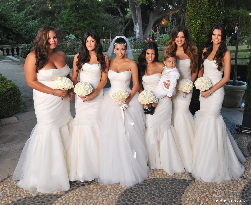 Kim Posed With Her Bridesmaids Sisters Khloe And Kourtney Kardashian Kylie Kendall Jenner