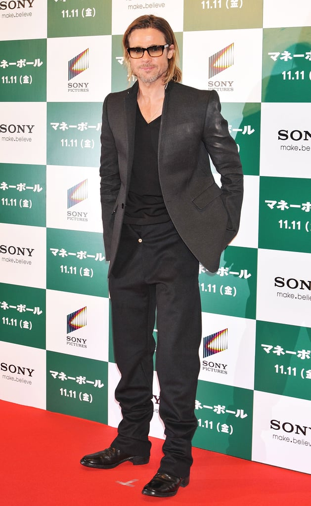 Brad Pitt was in Tokyo to promote Moneyball.