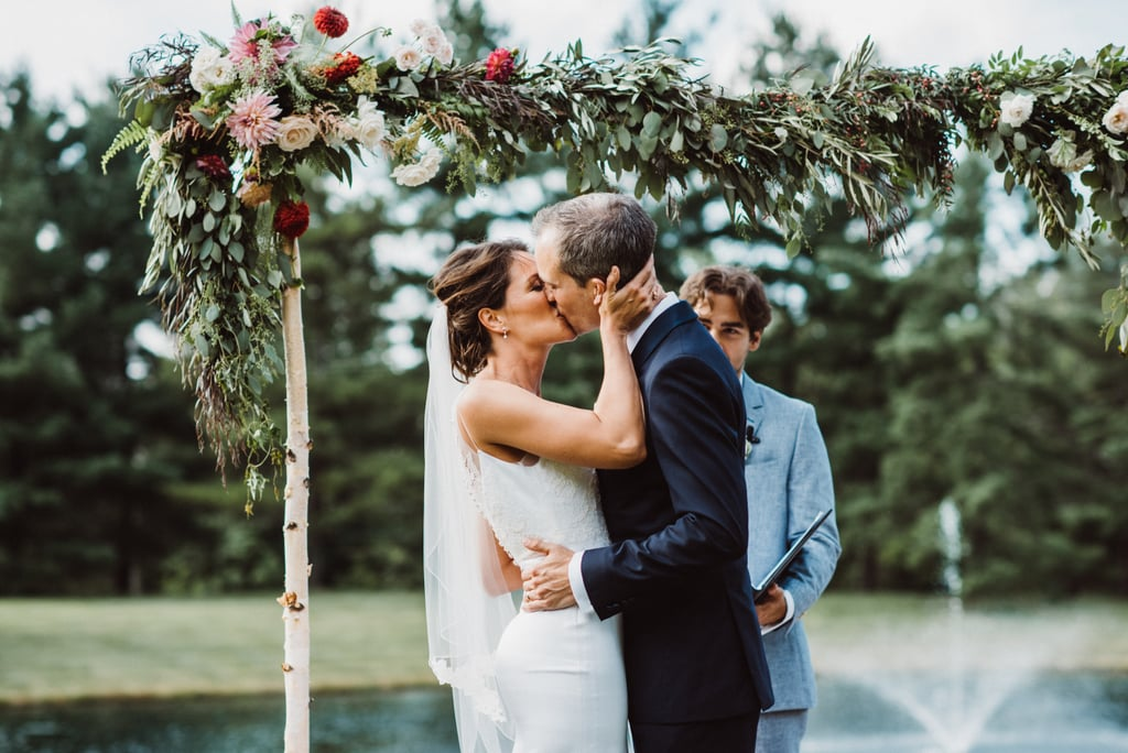 Although Caitrin and Jacob live in San Francisco, they wanted an outdoor wedding that felt like home. With family spread throughout the country, the couple decided to have their lakefront ceremony and tented reception on the groom's family farm in Bath, OH. See the wedding here!