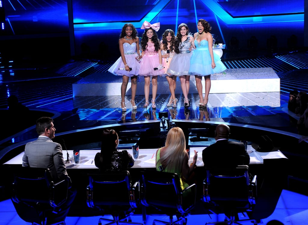 Fifth Harmony faced the judges.