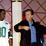 Diddy and Dick Clark rehearsed for the American Music Awards in 2002.