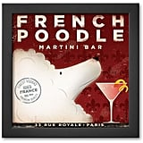 French Poodle Martini Framed Art Print by Stephen Fowler ($100)