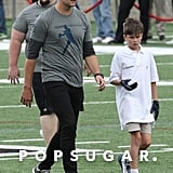 Tom Brady Goes Into Full Dad Mode While Playing Football With Son Jack