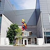 The Macefield house was decorated with balloons to promote Up's release.